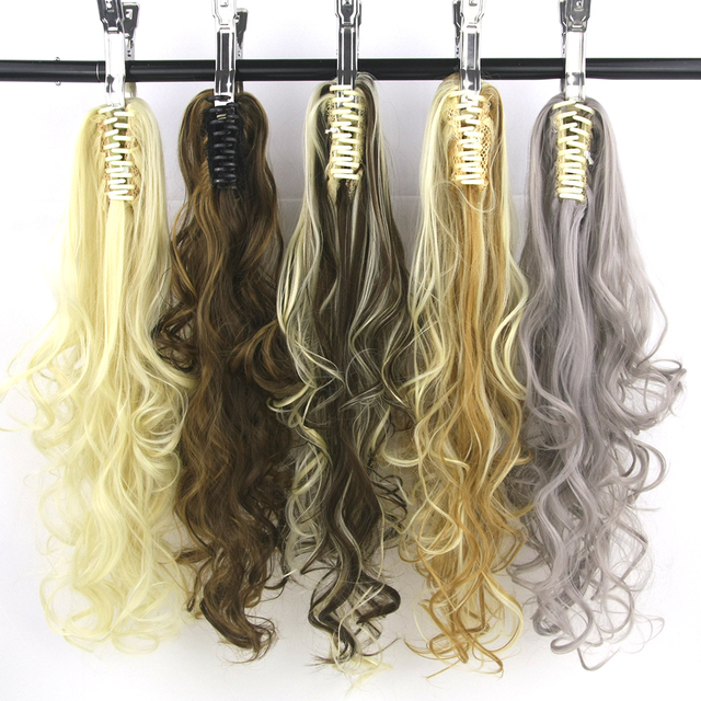 Soowee 15 Colors Long Red Gray Curly Synthetic Hair Clip In Hair
