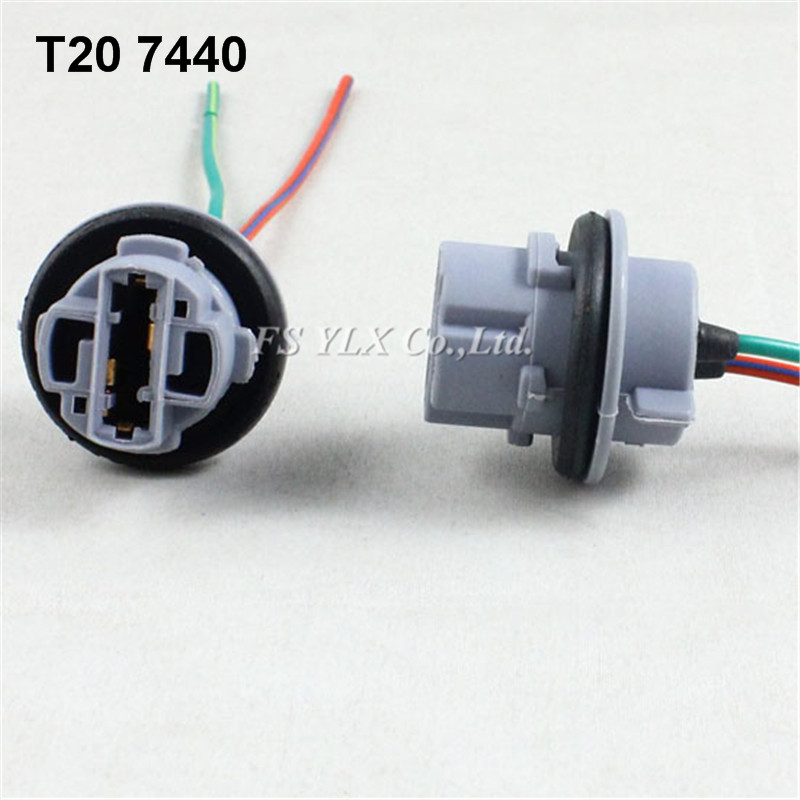 7440 7443 T20 Female Socket Wiring Harness For T20 LED DRL Backup Turn Signal tail Light 7440 wiring harness diagram wiring diagrams for diy car repairs Wiring Harness Diagram at soozxer.org