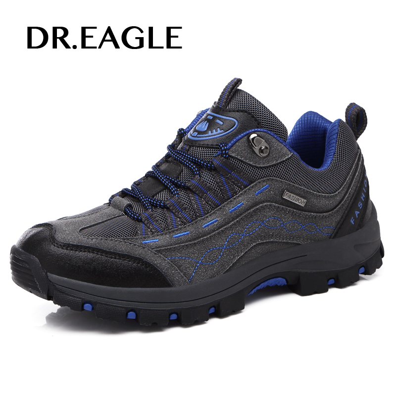 DR.EAGLE hiking shoes men trekking shoe winter sneakers for men male sports shoes breathable hiking mountain outdoor boots mulinsen winter2017 ankle boots hiking shoes for men hunting trekking men s sneakers breathable outdoor athletic sports brand