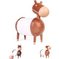 Toilet Living Room Bathroom Rack Kitchen Organizer Home Paper Towel Holder Little Donkey Crafts Ornaments Cartoon Wooden