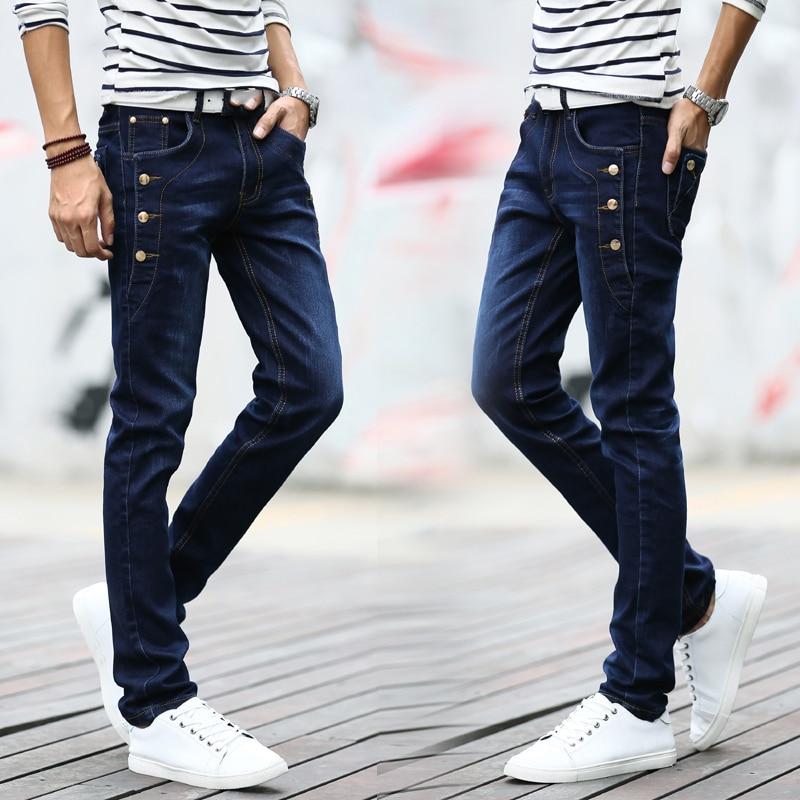Black Skinny Jeans Men Autumn Spring Stretch Denim Jeans Man Elastic Casual Slim Jean Pants Male Quality Jeans Homme