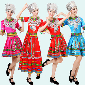 Image 2 - classical traditional chinese dance costumes for women miao hmong clothes traditional hmong clothes china national clothing