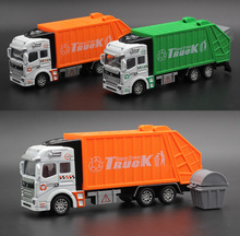 1:32 Diecast Cars Metal Model Car Dinky Toys For Children Brinquedos Alloy Sanitation Trucks City Toy Vehicle Vs Hotwheels