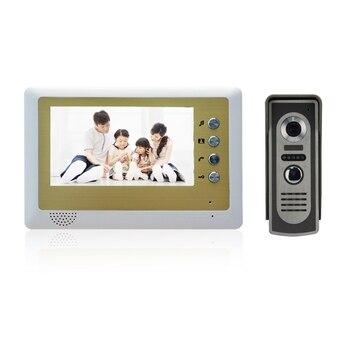 (1 set) Home Intercom system 7 inch one to one Doorphone Video intercom Doorbell talkback system Door access control release