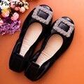 100% Женщин Неподдельной Кожи Балетки Змея Текстуры Плюс Размер Женщин Повседневная Обувь 2016 Лето Мокасины Скольжения на Женской Обуви