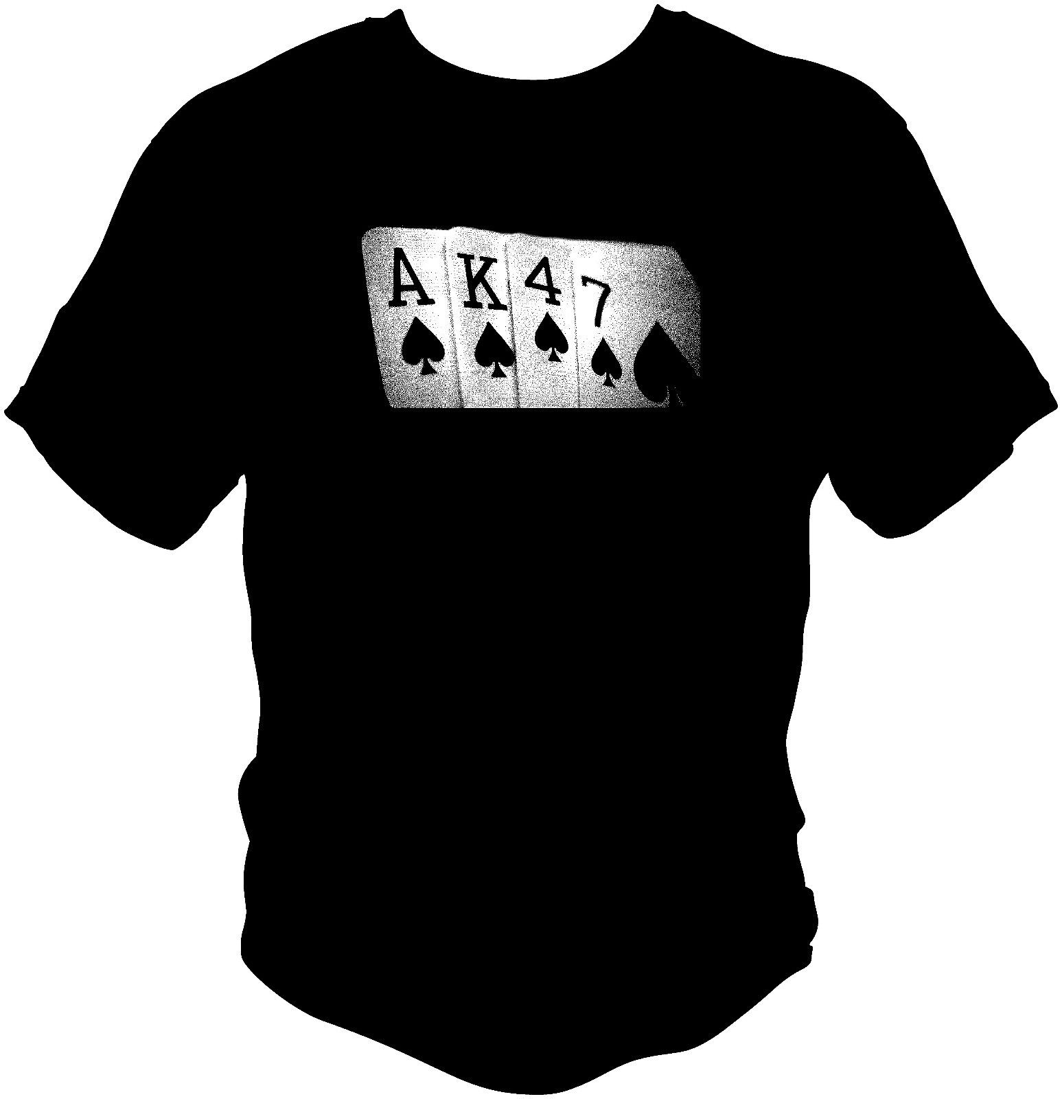 Summer Hot Sale Men T-shirt AK47 T Shirt Soviet USSR Russian Poker Hand Printed 100% Cotton ...