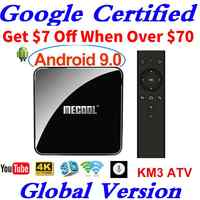 Google Certified Androidtv 9.0 MECOOL KM3 TV Box Android 9.0 4GB RAM 64GB 128GB Amlogic S905X2 4K Voice 5G Wifi KM9 PRO ATV
