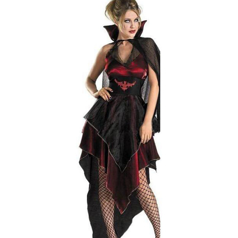 hot sale woman vampire witch costume vampire bride sexy costumes cosplay halloween costume party supplies creative - Halloween Costumes Prices