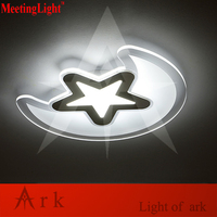 MeetingLight New Ultra Thin Acrylic Modern LED Moon Star Kids Bedroom Ceiling Lights Remote Control Surface