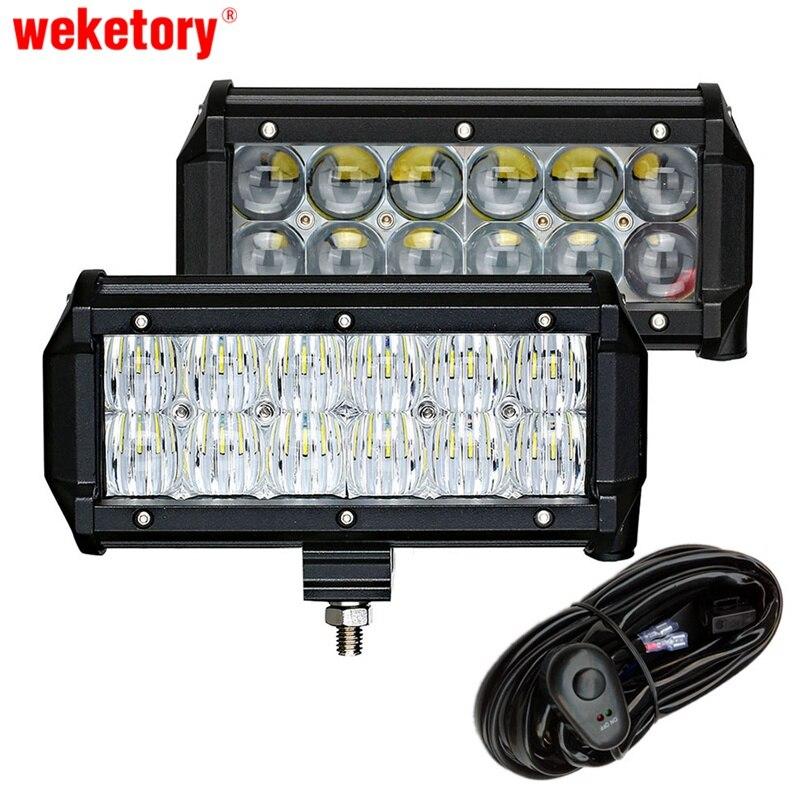 Weketory 2 дюймов шт. 7 дюймов Вт 60 Вт 4светодио дный D 5D светодиодный свет бар для трактора лодка OffRoad 4WD 4x4 грузовик внедорожник ATV Спот Наводнение ...