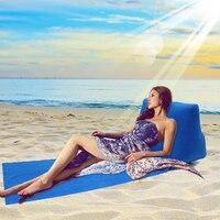 Reiskussen Lucht Opblaasbare Camping strand Mat Seat Outdoor Kussen stoel drinkbaar slapen pad air bed Gevouwen Air Matras