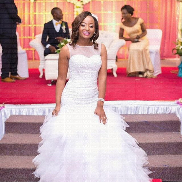 2019 New African Wedding Dress Custom-made Plus Size Africa Styles Wedding  Gown 8d442dccd680
