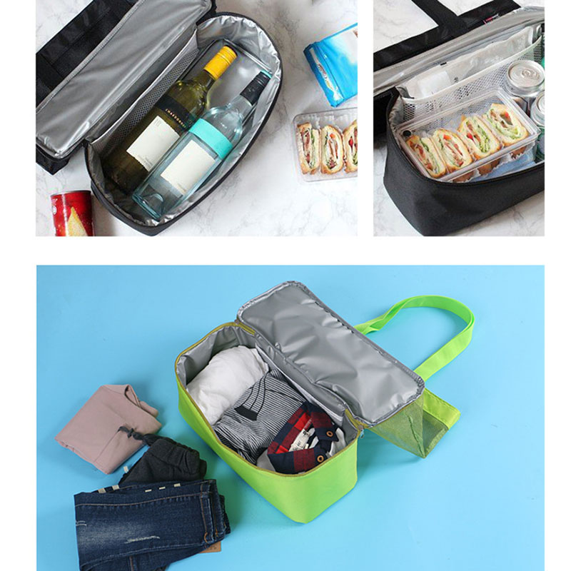 High Capacity Women Mesh Transparent Bag Double-layer Heat Preservation Large Picnic Beach Bags WML99