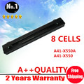 Wholesales New 8cells Laptop battery For ASUS  A450 A550 F450 F552 P450 X450 X550  A41-X550 A41-X550A  free shipping