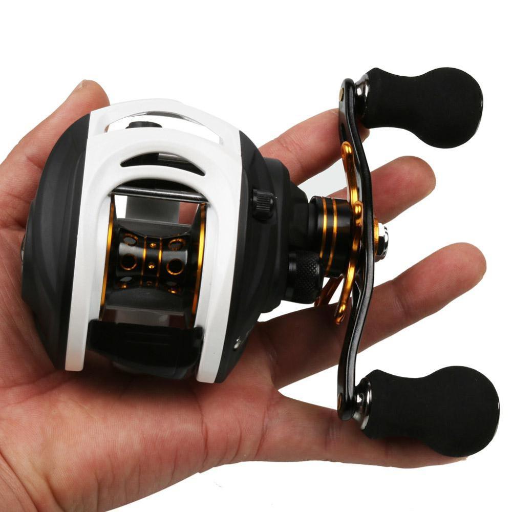Sougayilang Низкопрофильная Рыболовная катушка для Baitcast, Ультра гладкая легкая углеродная волоконная катушка 9 + 1, экранированная BB CNC, обработан...