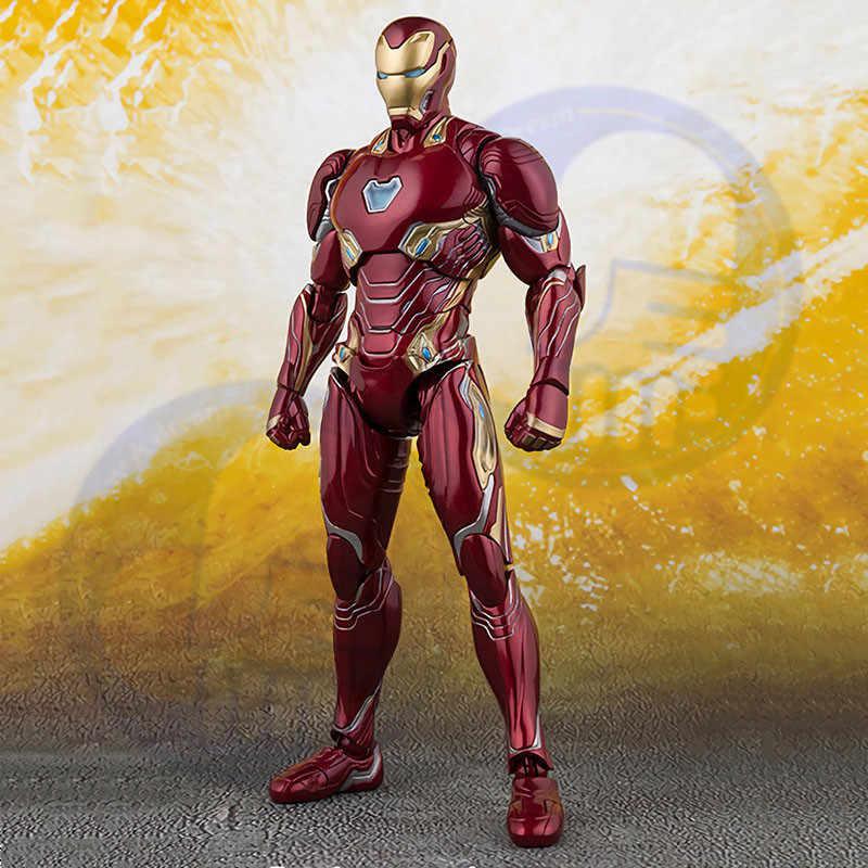 Novas maravilhas selecionar homem de ferro mk50 mark infinito guerra armadura pvc figura ação collectible modelo brinquedo ironman acgn figura brinquedos