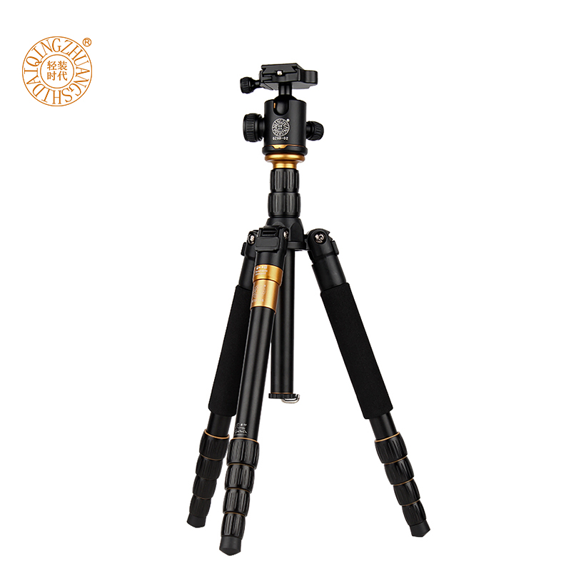 DHL Professional Magnesium Aluminium Tripod Monopod Q666 Pro For DSLR Camera Portable Traveling Tripod Max load to 15kg in Tripods from Consumer Electronics