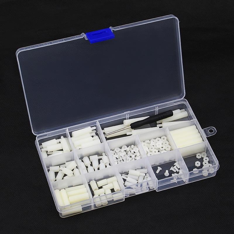 Plastic Screws Kits 210 pcs//lot Raspberry Pi Screws and Nuts Screwdriver Sto