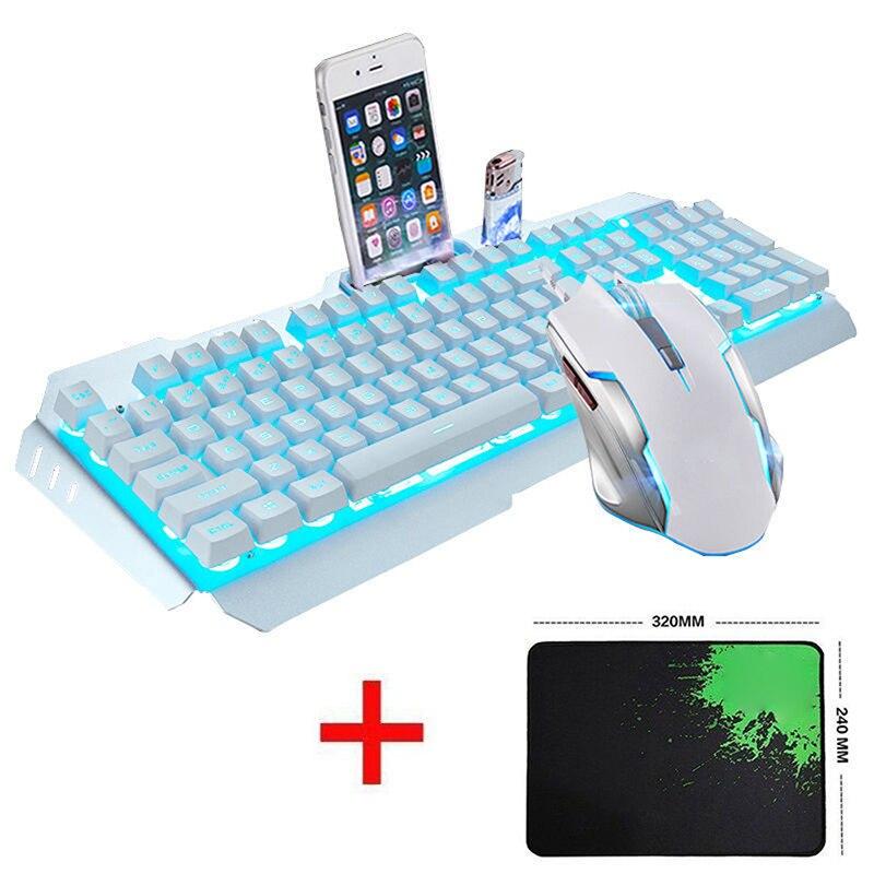 1set USB Wired Gaming Keyboard Rainbow LED Backlit Gaming Keyboard Mechanical Keyboard Illuminated Light For pc Desktop Laptop flexible neck usb powered 10 led keyboard light for laptop blue