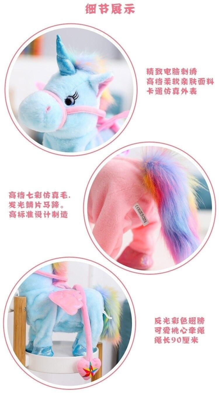 Robot Unicorn Unicórnio De Pelúcia Animal de