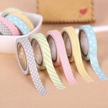 5 Pcs/Set Color Paper Tapes Handmade DIY Decorative Washi Tape Colored Rainbow Tapes недорого