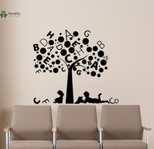 YOYOYU Vinyl Wall Decal Kids Alphabet Tree Boy Girl Playroom Mural Living Room Bedroom Stickers FD183