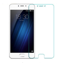 zero.3mm 9H tempered glass For Meizu U10 display protector protecting guard movie entrance case cowl +clear kits