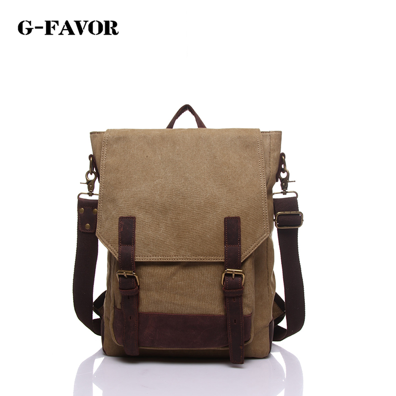 цены Quality supplier of men's canvas backpack solid color large-capacity leisure multi-purpose travel shoulder bag