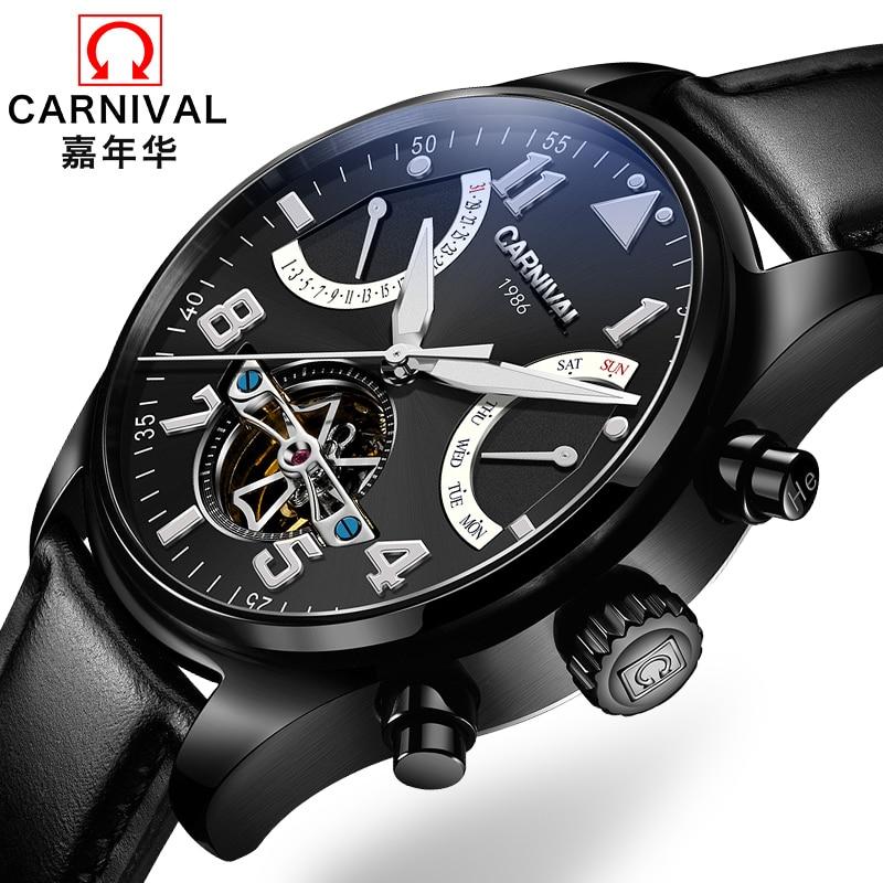 Šveice Carnival Brand Luxury Vīriešu pulksteņi Daudzfunkcionāls - Vīriešu pulksteņi