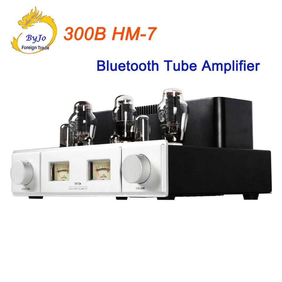 Amplificateur de Tube Bluetooth 300B HM-7 amplificateur de Tube à extrémité unique 5Z3P redresseur Hifi stéréo Audio amplificateur de Tube à vide 220 V ou 110 V