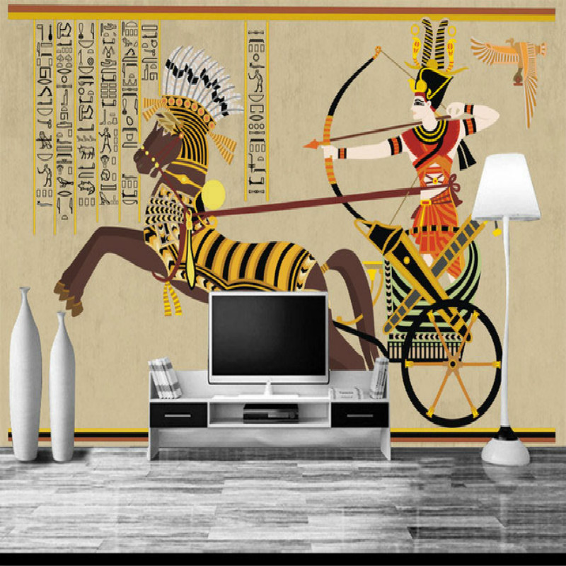 Egypt large mural 3D wallpaper background mural painting the living room bedroom wall TV backdrop stereoscopic 3D wallpaper vintage beautiful mahogany living room large mural wallpaper living room bedroom wallpaper painting tv background wall wallpaper