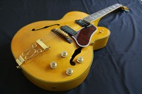 High end Quality Thick Semi Hollow body Tailpiece Yellow Jazz es 335 325 345 L5 electric guitar Guitarra all color Accept
