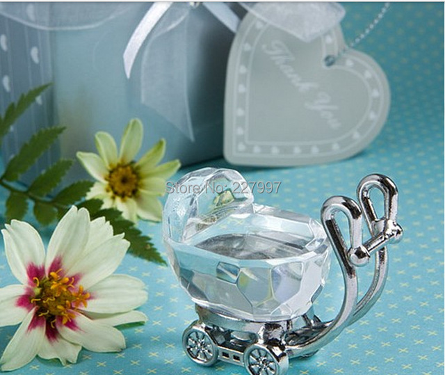 50Pcs Kids Birthday Party Favors Crystal Baby Shower Souvenir New Born Baby  Shower Boy Girl +