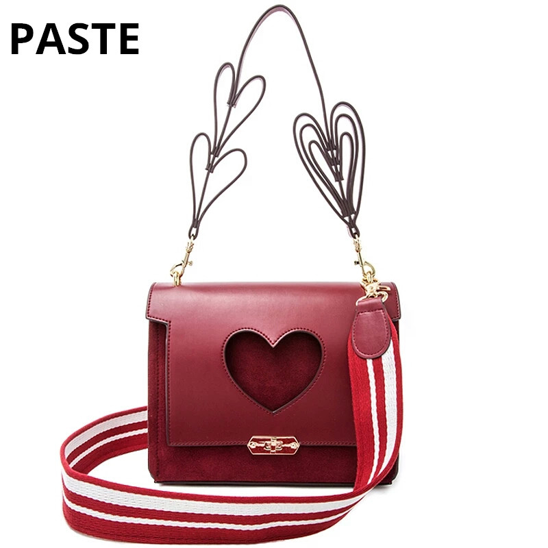 Genuine Leather heart hollow out messenger bag England Retro Fashion Women Handbag&shoulder bag Nubuck Heart strap crossbody bag цена