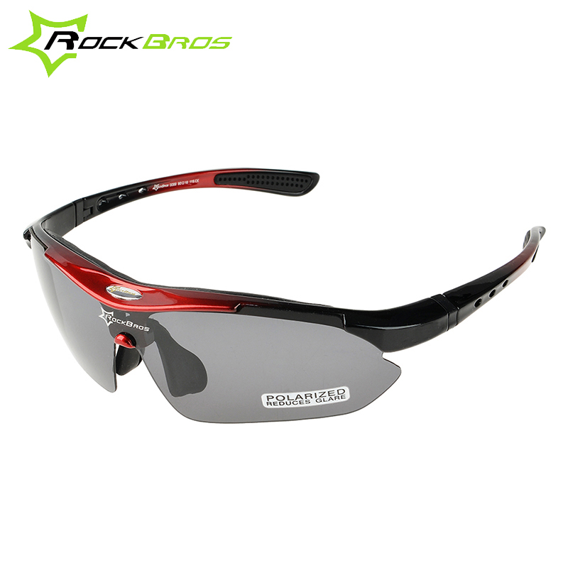 2017 New ROCKBROS Polarized MTB Bicycle Eyewear Road Bike Running Riding Sports Glasses Outdoor Cycling Google Sunglasses 5 Lens