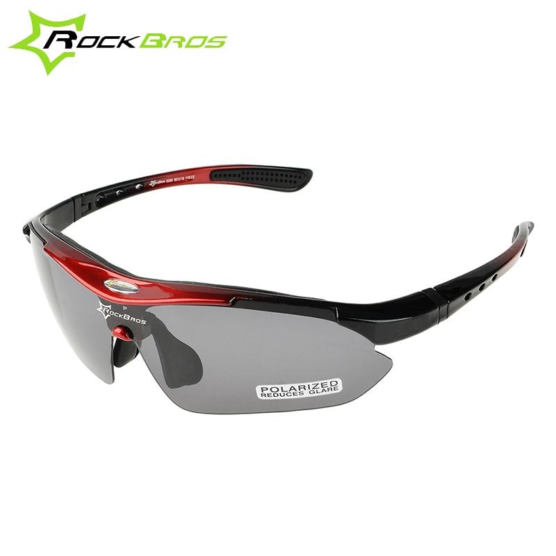 ROCKBROS 100% saulesbrilles polarizēti velosipēdu brilles 5 objektīva MTB ceļa velosipēds āra sporta veidi riteņbraukšanas saulesbrilles brilles 29g
