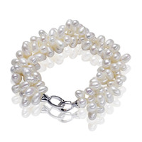 Genuine Pearl Beads Best Natural Freshwater Pearl Bracelet With 925 Sterling Silver Clasp