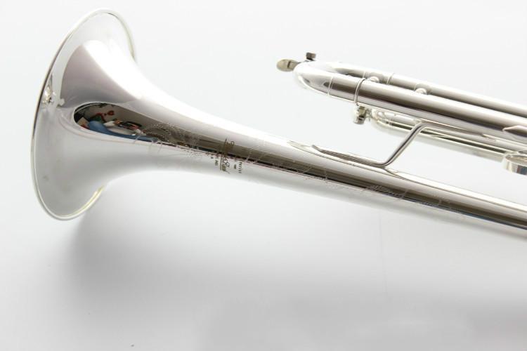 Bach AB 190S Латунь Bb труба высокого качества Посеребренные профессиональные музыкальные инструменты с футляром аксессуары - 2