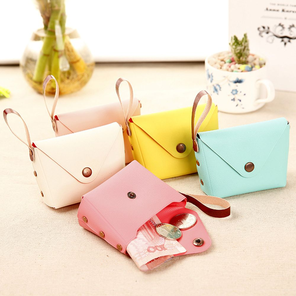 Fashion PU Leather Coin Purse Women Small Wallet Female Change Purses Mini Children's Pocket Wallets Key Card Holder Hand Bag
