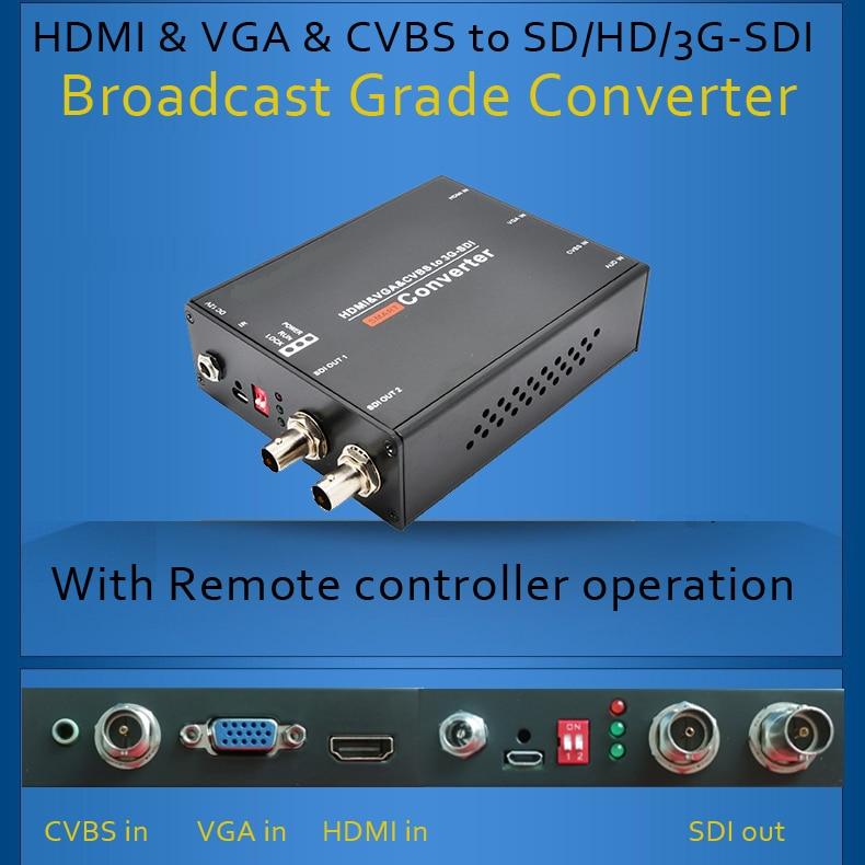HDMI, VGA y CVBS a convertidor de grado de transmisión SD / HD / - Audio y video casero