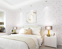 Beibehang Simple Leaf Flocking Nonwoven Fabric Wall Paper Living Room Bedroom Restaurant Background Papel De Parede