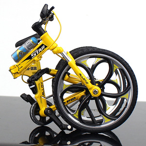 Image 5 - Bicicleta de carretera de Metal fundido a presión, escala 1:10, juguete de colección
