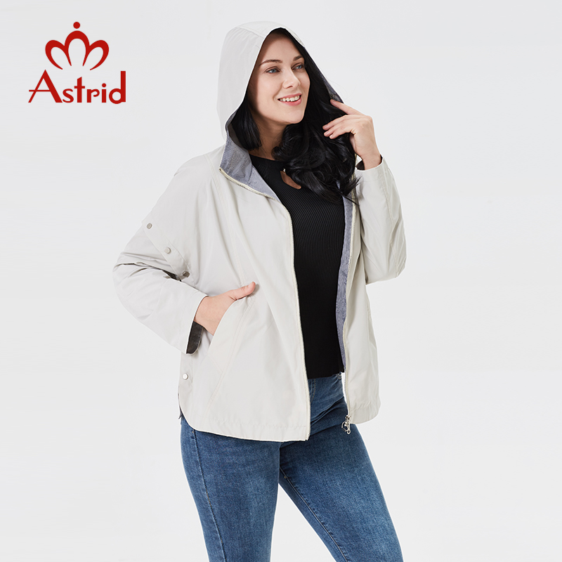 Astrid 2019 trench coat Autumn New Women s Casual trench coat Solid color Fashion trench short