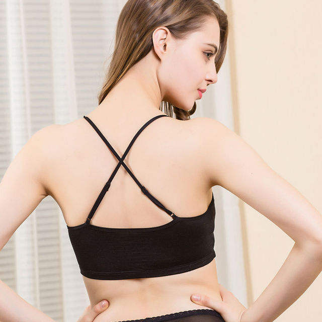 Women tube top 100%Real Silk tube bra Detachable padding crop top Summer Black White Nude