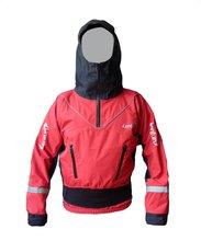 Lenfun top seco UNISEX con cuello de látex/muñequera, chaqueta seca para kayak, canoa, paleta de agua blanca