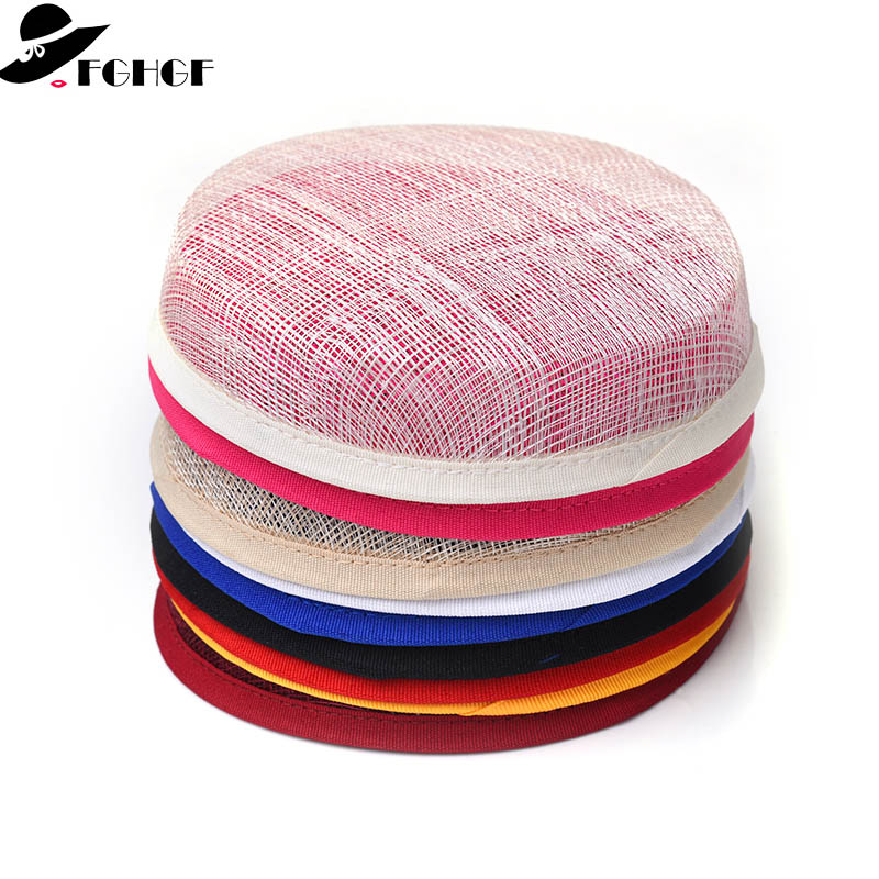 "Sinamay Retro  Style Millinery Fascinator Hat Base 20CM//8/""//10cm//4/'/'"