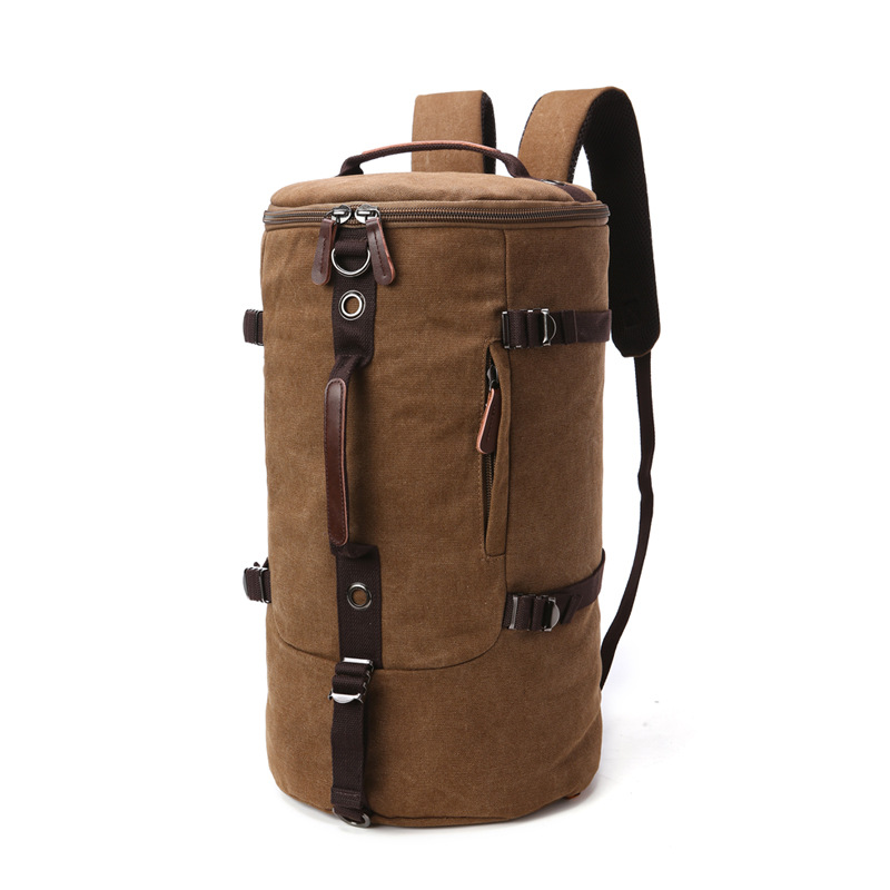 Large Capacity Man Travel Bag Mountaineering Backpack Men Bags Canvas Bucket Double Shoulder Bag Rucksack Men's Laptop Backpack стоимость
