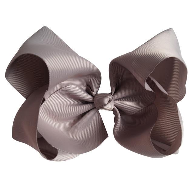 Fashion Brown Black Ribbon Bow Sandals Shoe Clips 2 pcs