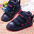 2015 BABAYA Winter new fashion tenis soft flock leather high warm thick toddle infant kids girls shoes children ankle snow boots