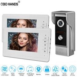7 ''TFT LCD проводной видеодомофон дверной звонок Система для домашнего внутреннего монитора 700TVL IR наружная камера металлическая 100 метров